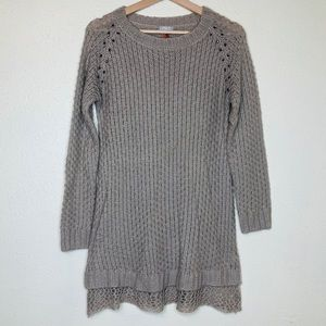 Mayoral Gold threaded sweater tunic/dress